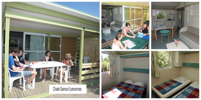 Chalet Samoa 4-6 personnes Les Rulieres Camping Vendee