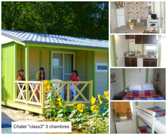 Chalet class3 les Rulieres Camping Vendee