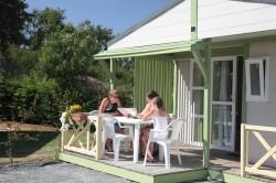 Chalet 4 à 5 personnes avec terrasse couverte