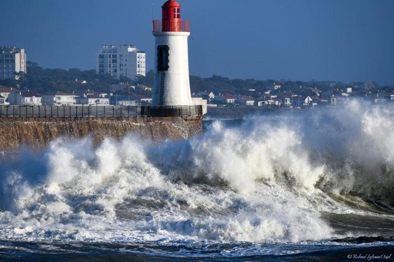 Tempête en bord de mer aux sables d'Olonne